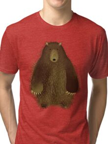 Barnsley the Big Bear. Tri-blend T-Shirt