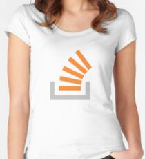Stack Overflow Icon (big) Women's Fitted Scoop T-Shirt
