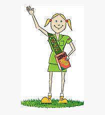Girl Scout Funny Scout Shirt Photographic Print