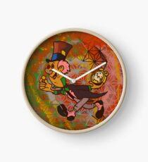 mad hatter blotter Clock
