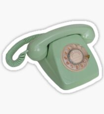 Vintage blue phone Sticker