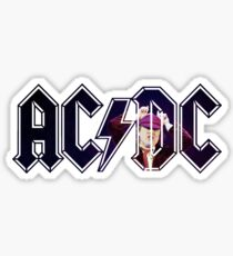 ACDC Angus Young Horns Sticker