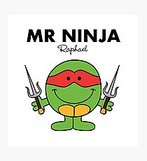 Mr Ninja Photographic Print