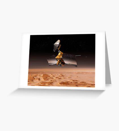Mars Reconnaissance Orbiter passiert den Planeten Mars. Grußkarte