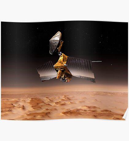 Mars Reconnaissance Orbiter passiert den Planeten Mars. Poster