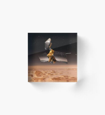 Mars Reconnaissance Orbiter passiert den Planeten Mars. Acrylblock