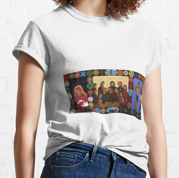 Triptych of the 12 apostles of Jesus and Mary Classic T-Shirt