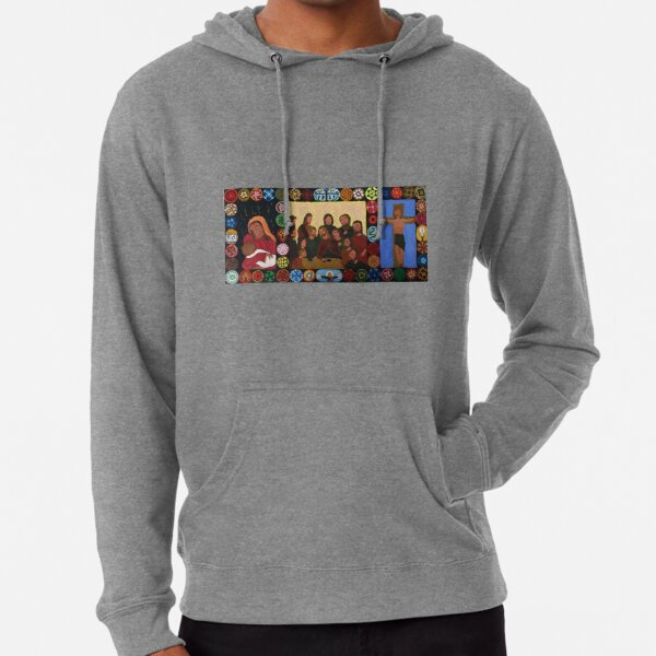 Triptych of the 12 apostles of Jesus and Mary Lightweight Hoodie