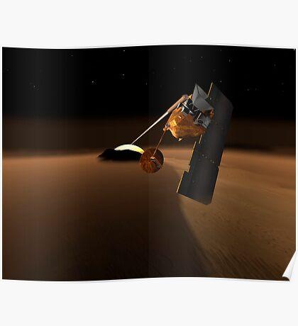Konzept für Mars Volcanic Emission Life Scout. Poster