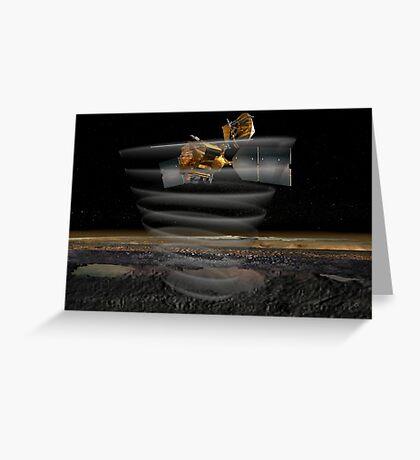 Mars Reconnaissance Orbiter Radar bei der Arbeit. Grußkarte