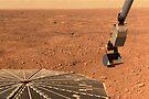 Phoenix Mars Lander Sonnenkollektor und Roboterarm mit einer Probe in der Schaufel. von StocktrekImages