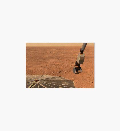 Phoenix Mars Lander Sonnenkollektor und Roboterarm mit einer Probe in der Schaufel. Galeriedruck