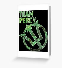 team percy Greeting Card