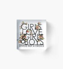 GIRLS/GIRLS/BOYS Acrylic Block