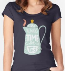 Tea saying Women's Fitted Scoop T-Shirt