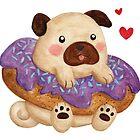 «Donut Pug» de Calista Douglas
