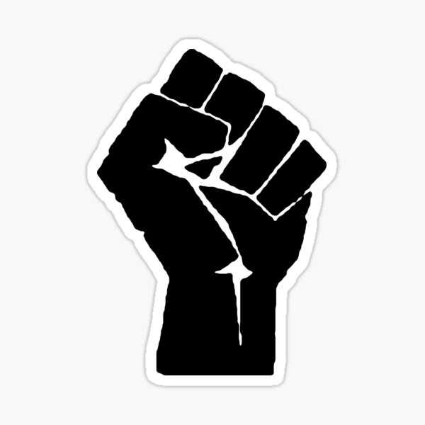 BLACK POWER FIST Sticker