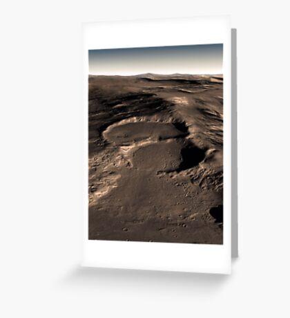 Drei Krater in der östlichen Hellas-Region des Mars. Grußkarte