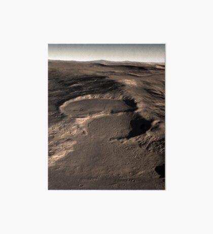 Drei Krater in der östlichen Hellas-Region des Mars. Galeriedruck