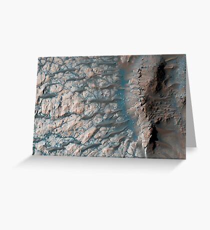 Teil des Bodens eines großen Einschlagskraters im südlichen Hochland auf dem Mars. Grußkarte