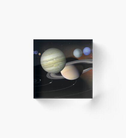 Sonnensystem Acrylblock