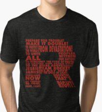 Team Rocket R Typography Tri-blend T-Shirt