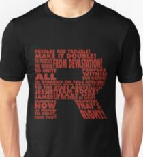 Team Rocket R Typografie Slim Fit T-Shirt