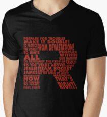 Team Rocket R Typography Men's V-Neck T-Shirt