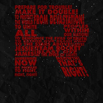 Team Rocket R Typography by Koukiburra