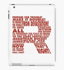 Team Rocket R Typography iPad Case/Skin