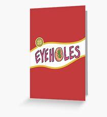 Rick & Morty - Retro Eyeholes Greeting Card