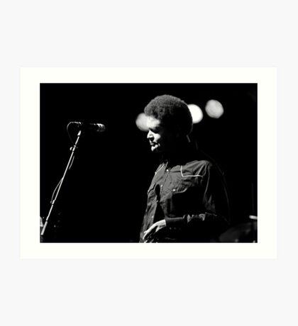 Mike Mattison: Vocal Harmonist with Tedeschi Trucks Band Art Print