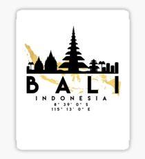 BALI INDONESIA SILHOUETTE SKYLINE MAP ART  Sticker