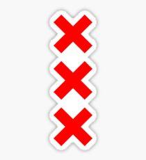 Amsterdam XXX logo Sticker
