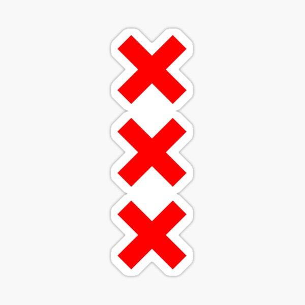 Logotipo de Amsterdam XXX Pegatina