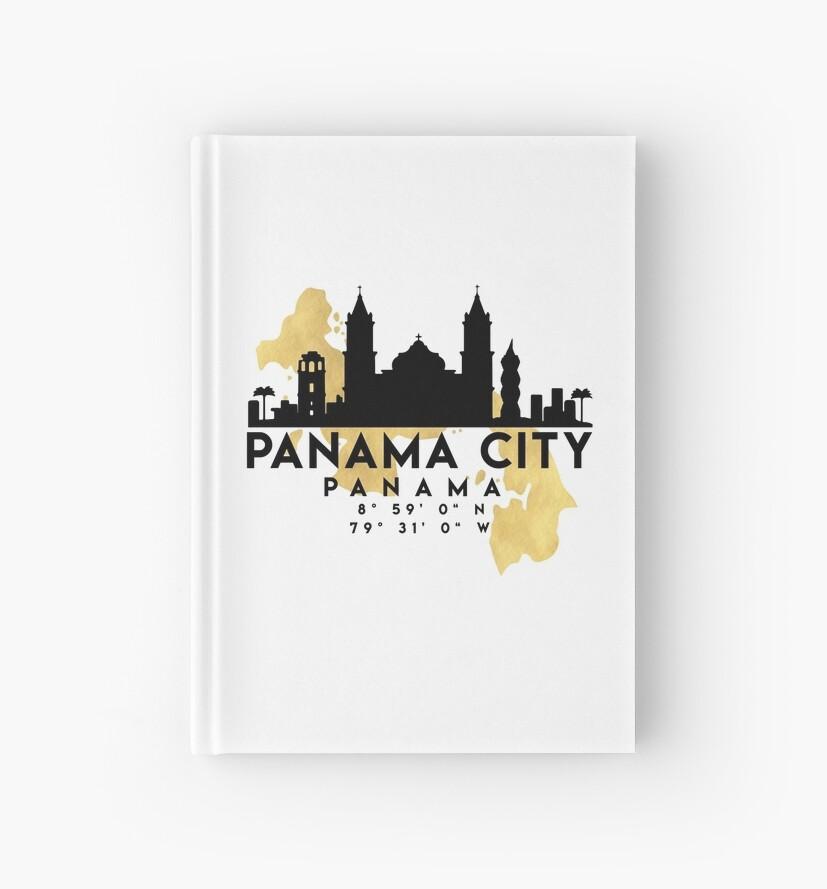 PANAMA CITY PANAMA SILHOUETTE SKYLINE MAP ART  by deificusArt