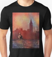 Pigeon & Big Ben- Watercolor painting T-Shirt