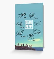 BTS Greeting Card