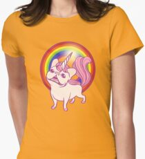 The Unicorn Frenchie Womens Fitted T-Shirt