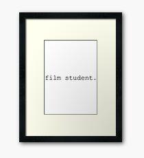 Film Student Framed Print
