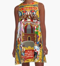 Carnival Circus Amusement Family Theme Park Illustration   A-Line Dress