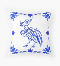Portuguese azulejo tiles.  Throw Pillow