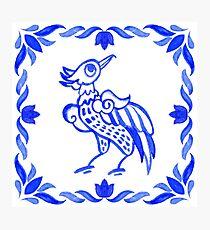 Portuguese azulejo tiles.  Photographic Print