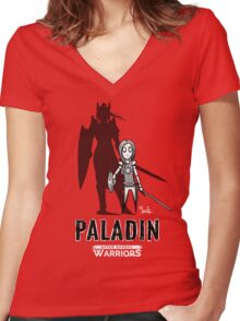 AFTER SCHOOL WARRIORS: PALADIN Women's Fitted V-Neck T-Shirt