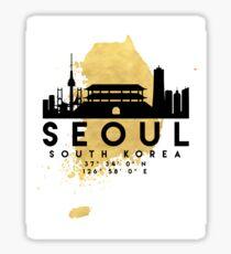 SEOUL SOUTH KOREA SILHOUETTE SKYLINE MAP ART  Sticker