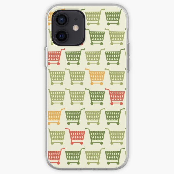 Shopping cart colored iPhone Soft Case