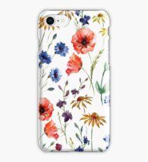 wild flower watercolor iPhone Case/Skin