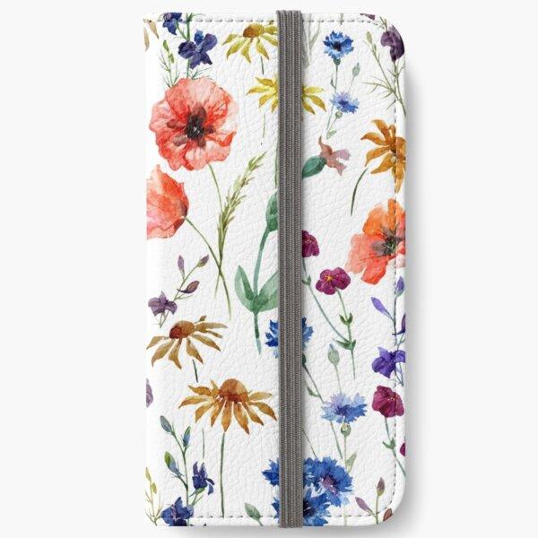 wild flower watercolor iPhone Wallet
