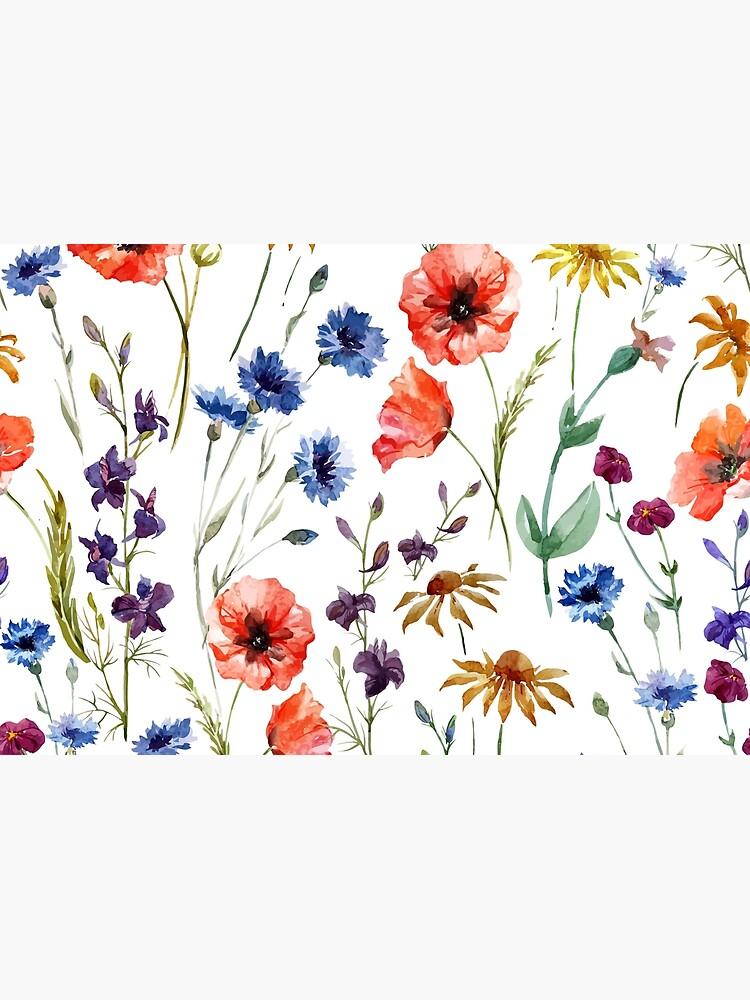 Wildblumen-Aquarell von areckewey