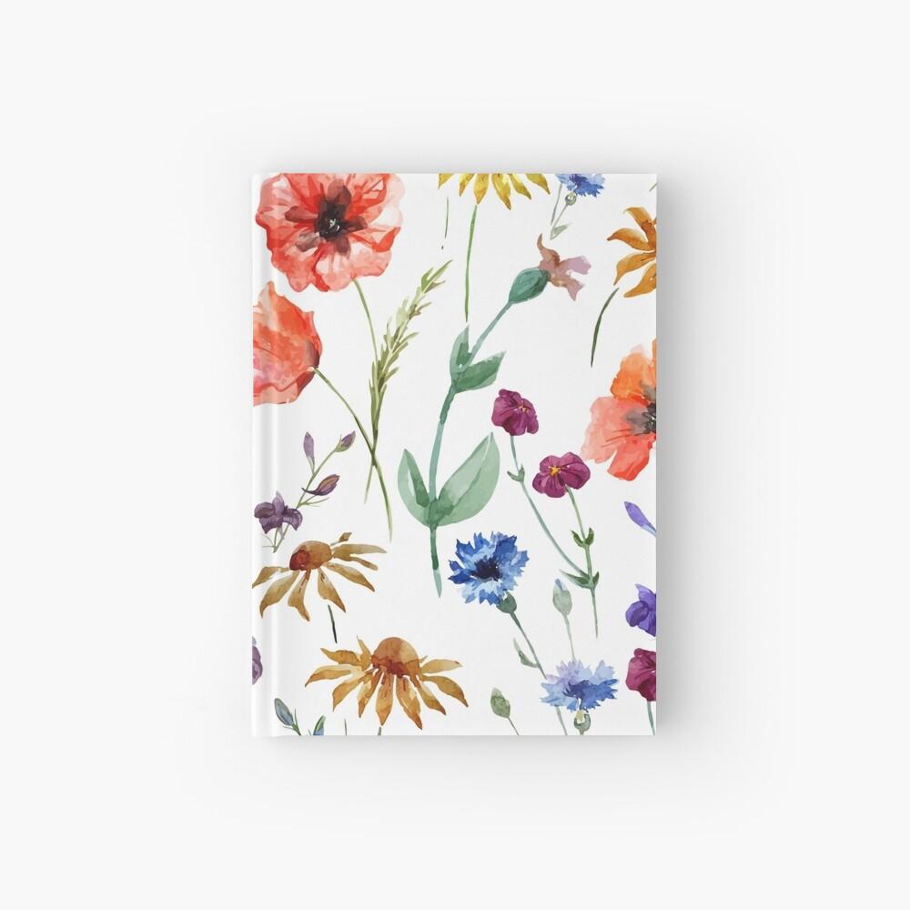 Wildblumen-Aquarell Notizbuch